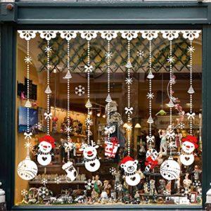 TedGem Schneeflocken Aufkleber, Schneeflocken Fensterbild, Weihnachtsdeko, Weihnachten Fensterdeko Set, DIY…
