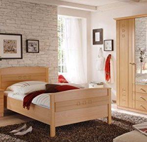 Vaja Seniorenzimmer mit Komfortbett Schrank Kommode Buche Dekor