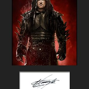 The Undertaker WWE | Signierter Fotodruck | A5 Größe passend für 6×8 Zoll Rahmen | Maschinenschnitt | Fotoanzeige | Geschenk Sammlerstück
