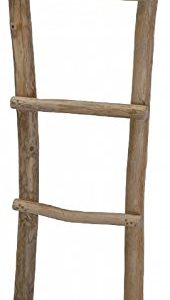 Handtuchhalter Dekoleiter Kleiderständer Handtuchleiter Teakholz Garderobe Holz Teak 151cm J190