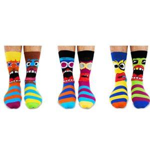 United Oddsocks – Funk You – Herren 6 verschiedene Socken – mit Gesichter! Gr. 39 – 46