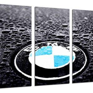 Wandbild – BMW Logo, BMW Symbol, Autos, Motorräder, 97 x 62 cm, Holzdruck – XXL Format – Kunstdruck, ref.26472
