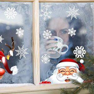 heekpek Netter Weihnachtsmann Weihnachten selbstklebend Fensterdeko Weihnachtsdeko Sterne Weihnachts Rentier Aufkleber…