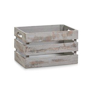 Zeller Aufbewahrungs-Kiste, Holz, vintage weiß