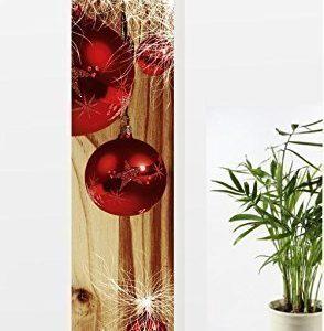 gardinen-for-life Flächenvorhang Weihnachten Modern Red-Brown, Moderner Schiebevorhang, Gr.60×245 cm