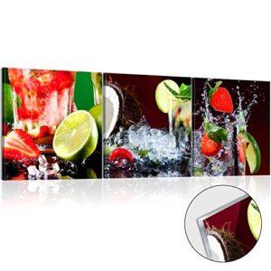 murando Acrylglasbild Obst 120×40 cm Wandbild auf Acryl Glas Bilder Kunstdruck Moderne Wanddekoration – Küche Erdbeere…