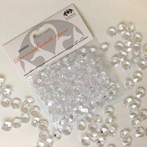 EinsSein 1000x Diamantkristalle 12mm hellgrün Dekoration Streudeko Konfetti Tischdeko Hochzeit Diamanten Diamant Glas…