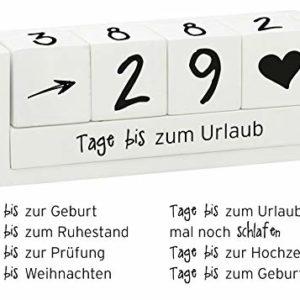 Spetebo Holz Countdown Würfel für 8 Ereignisse – Deko Holzwürfel Würfelkalender Dauerkalender